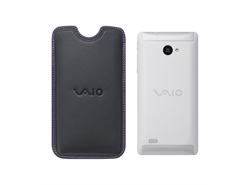 """【販売終了】VAIO Phone Biz / VAIO Phone A用""""VAIOストア別注""""レザーケース"""